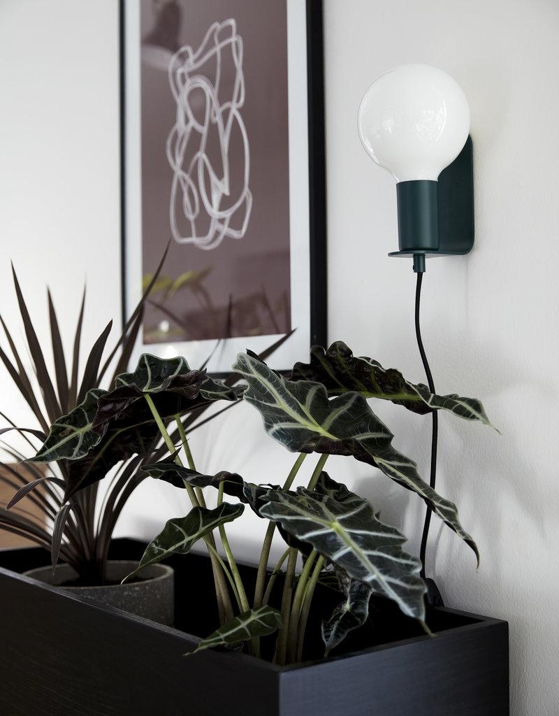 Hubsch Hubsch - Plantenstaander zwart esdoorn