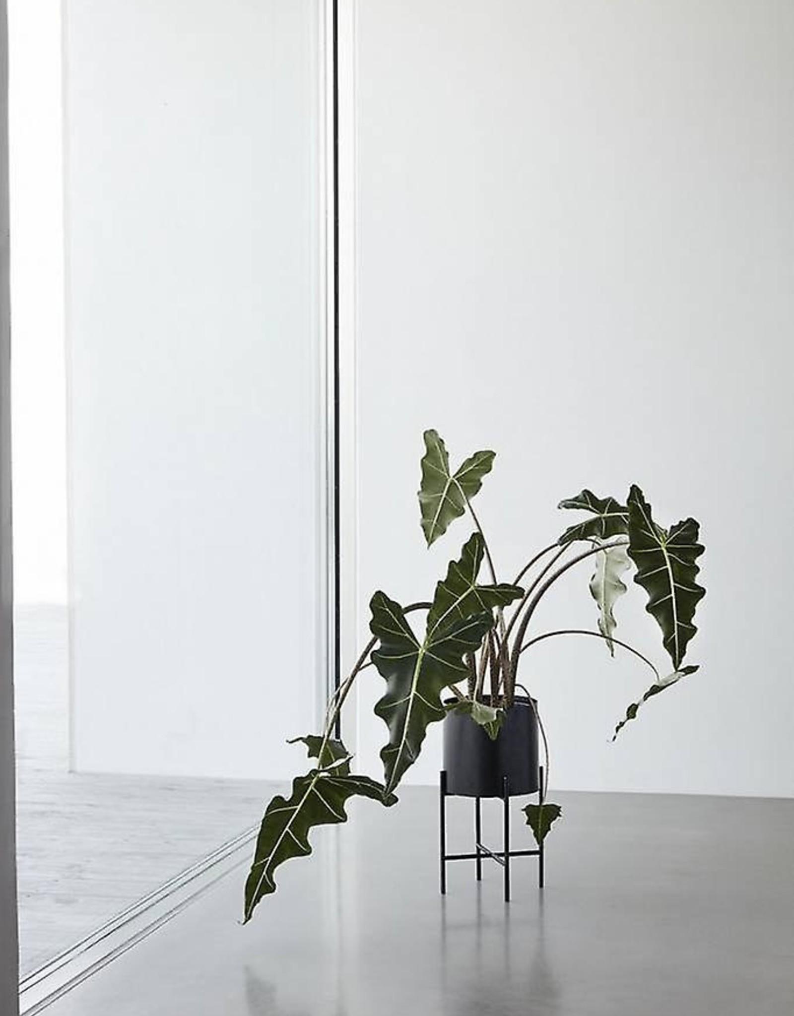 Hubsch Hubsch - Set van 2 plantenstaanders - zwart