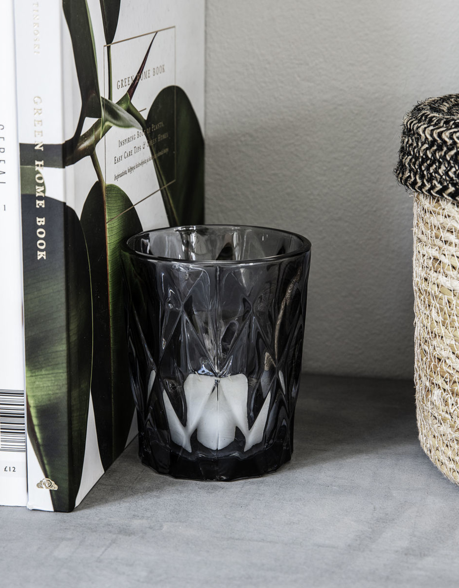 House Doctor House Doctor - Candle stand, Facet grey