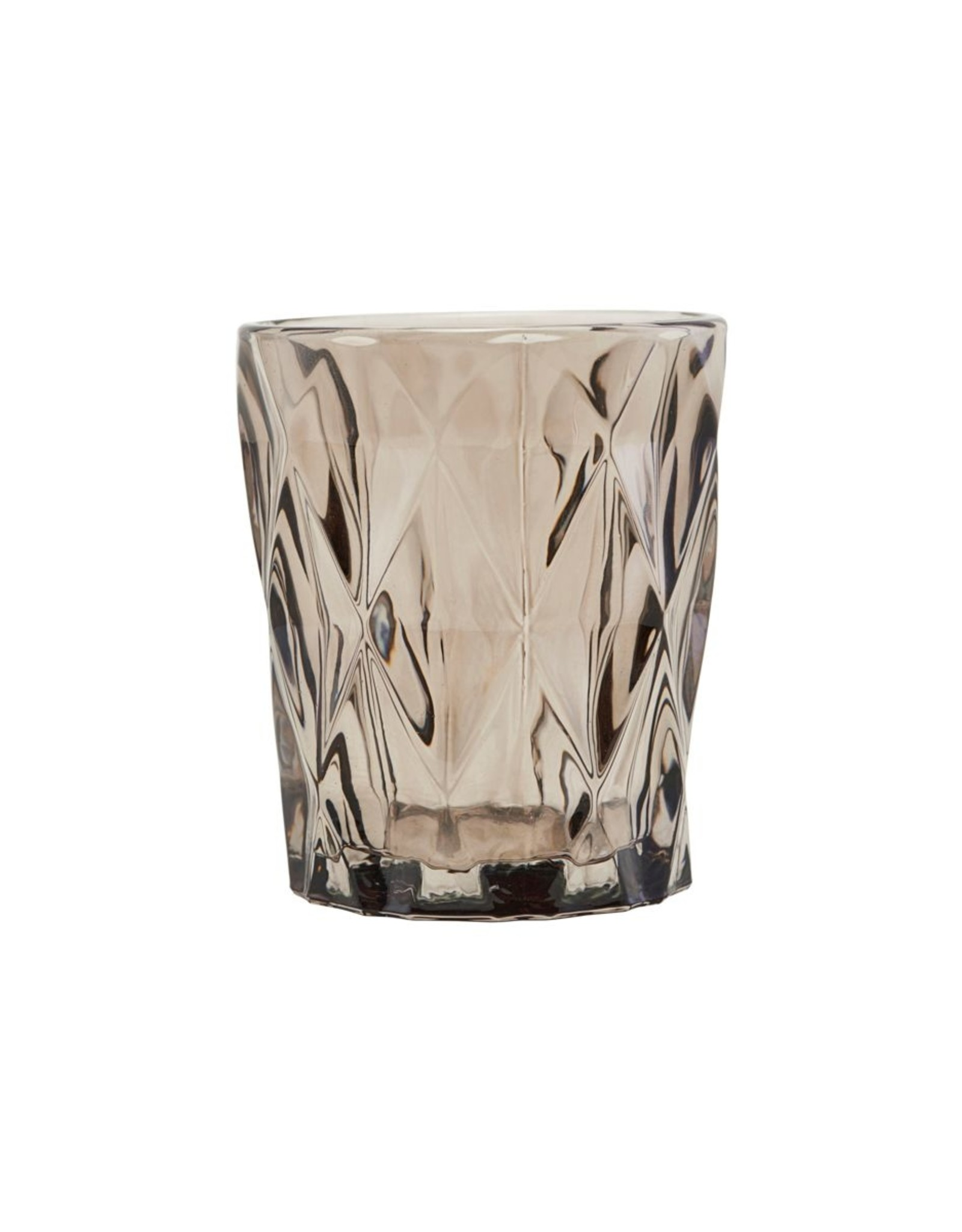 House Doctor House Doctor - Candle stand, Facet Brown