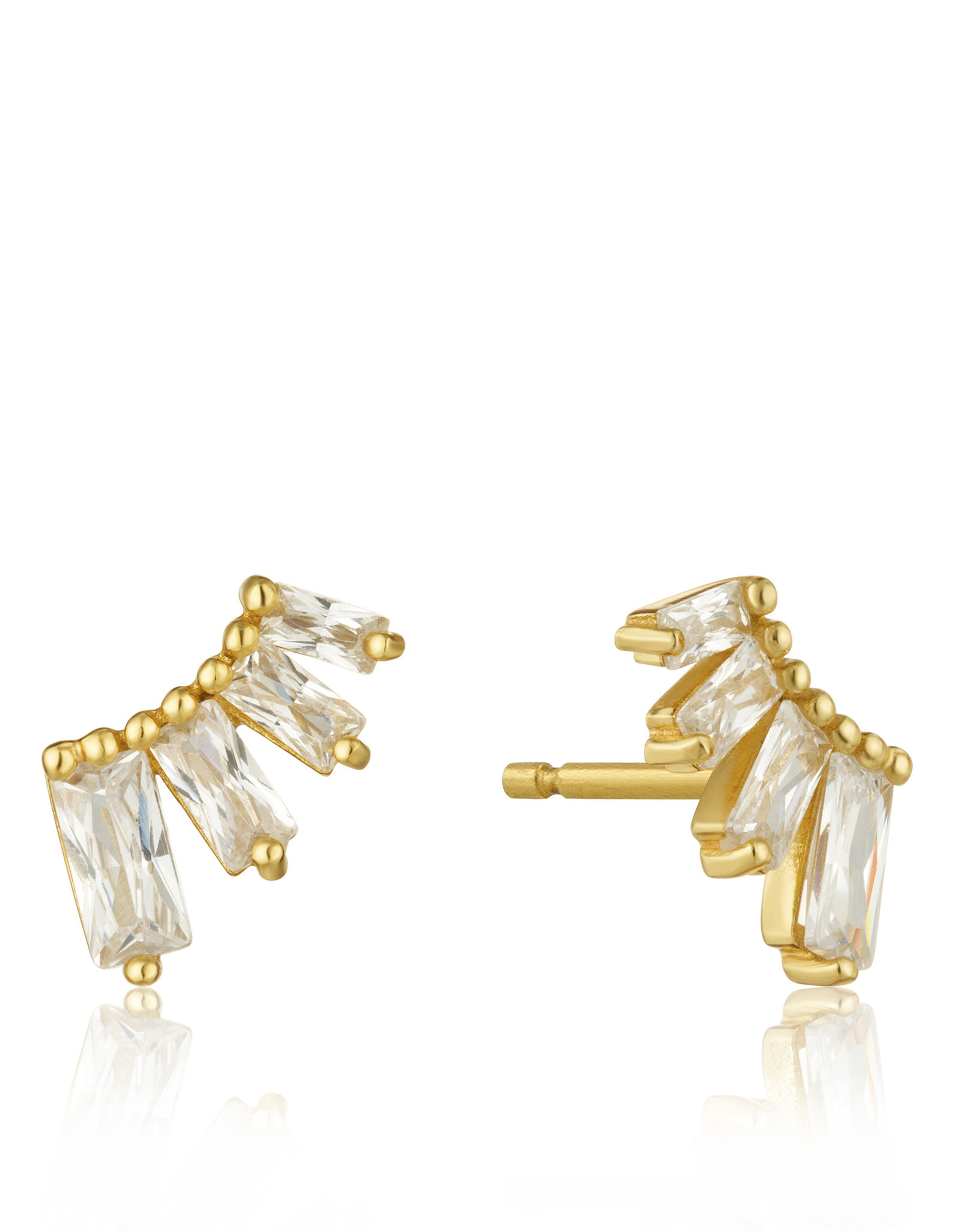 Ania Haie Ania Haie - Glow bar stud earrings gold