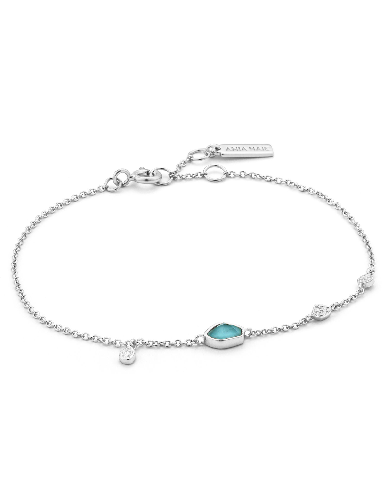 Ania Haie Ania Haie - Turquoise labradorite bracelet silver