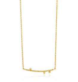 Ania Haie Ania Haie - Solid bar Necklace gold