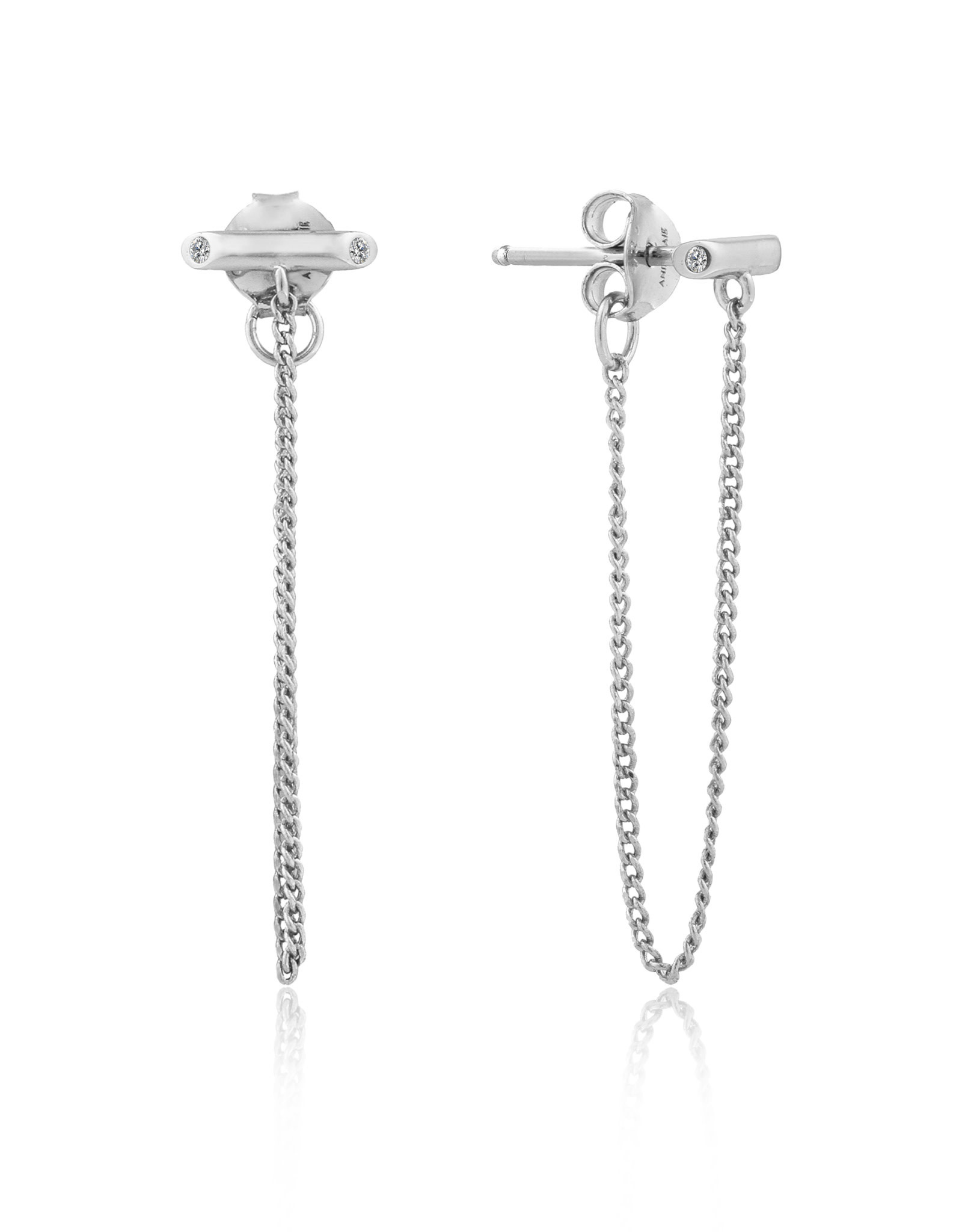 Ania Haie Ania Haie - Shimmer chain stud earrings Silver