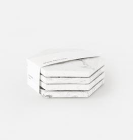 House Racoon House Raccoon - Dalbane coasters - White marble