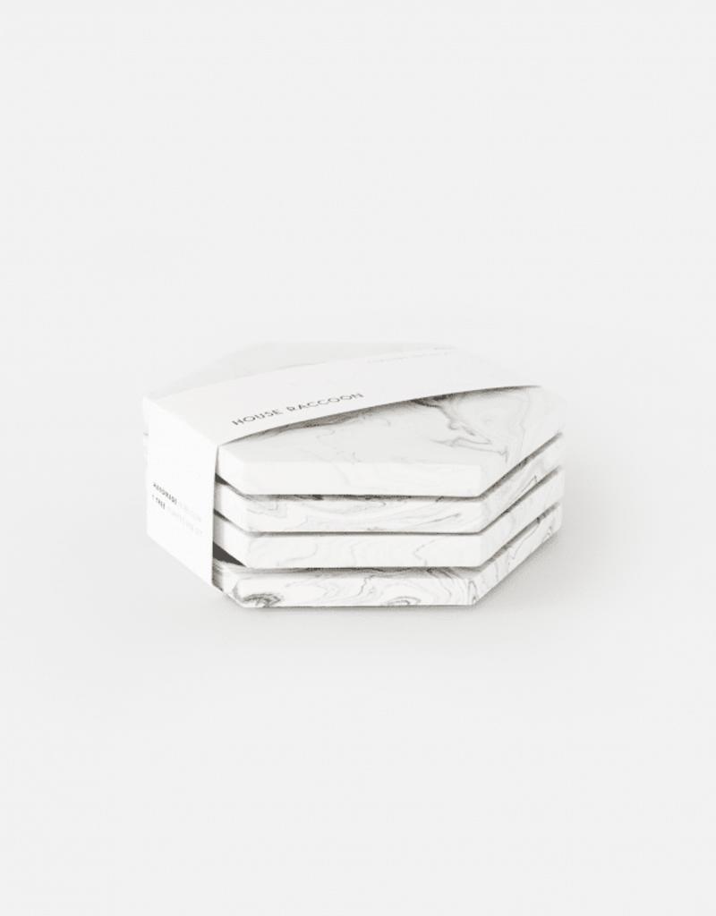 House Racoon House Racoon - Dalbane coasters - White marble