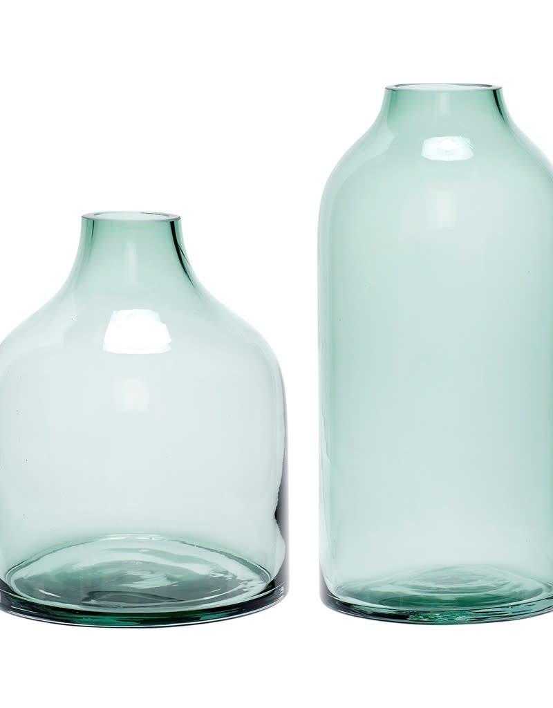 Hubsch - Vase, glass green L