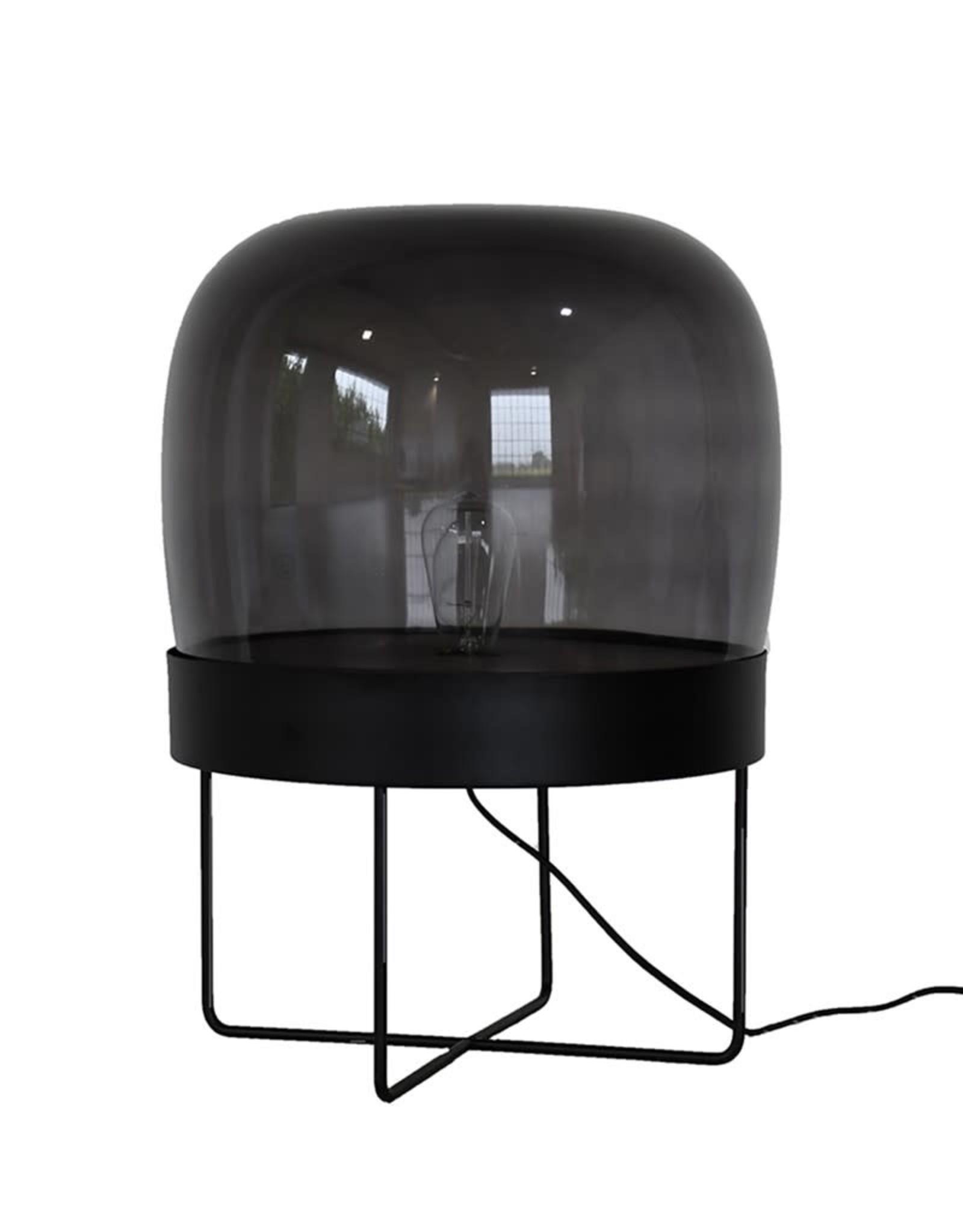 Hubsch Hubsch - Floor lamp, metal/glass, black
