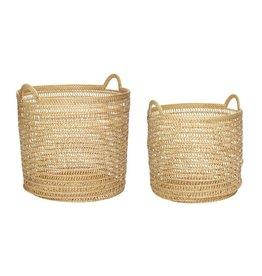 Hubsch Hubsch - Basket w/handle, rattan, nature L