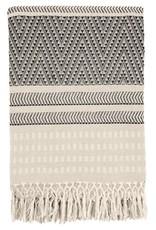 Malagoon Malagoon - Native stripe cotton offwhite throw 220x270