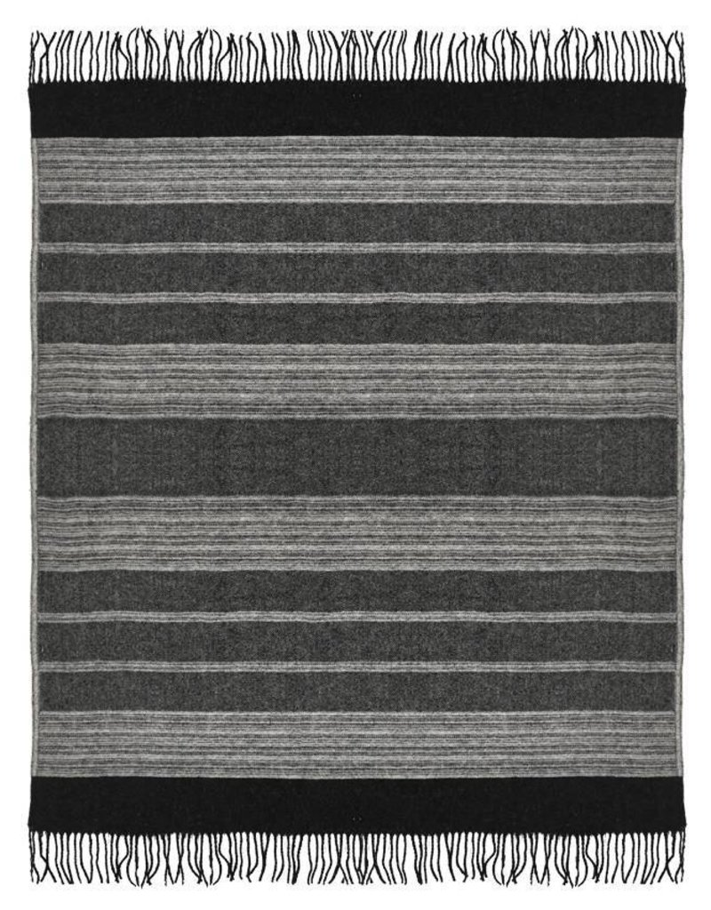 Malagoon Malagoon - Night black wool throw