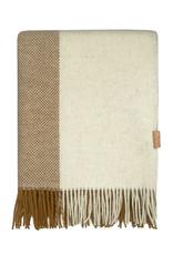 Malagoon Malagoon - Easy nature wool throw mustard