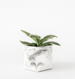 House Racoon House Racoon - Palua planter - Large - White Marble