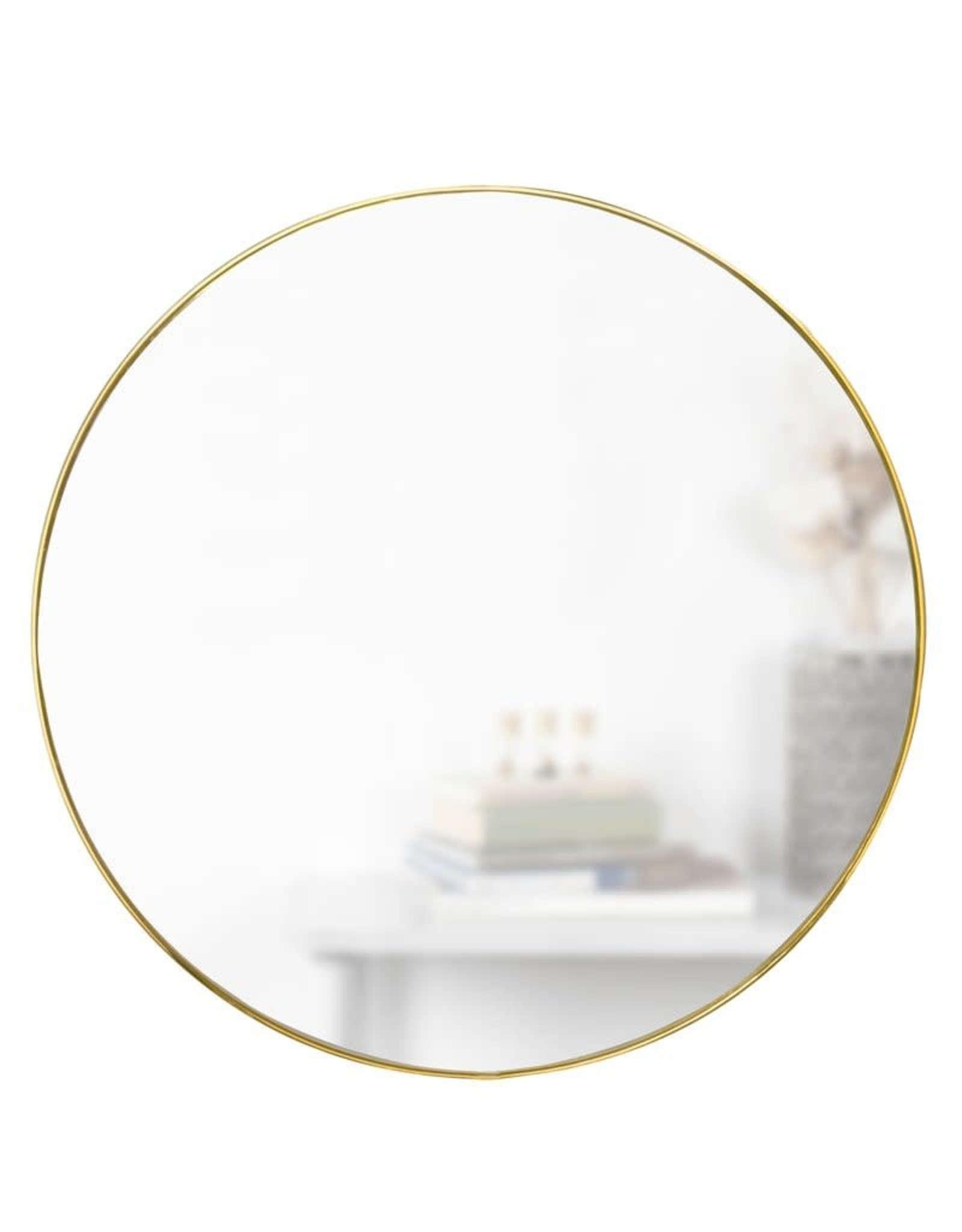 Umbra Umbra -  Hubba - Mirror - Gold Brass - large