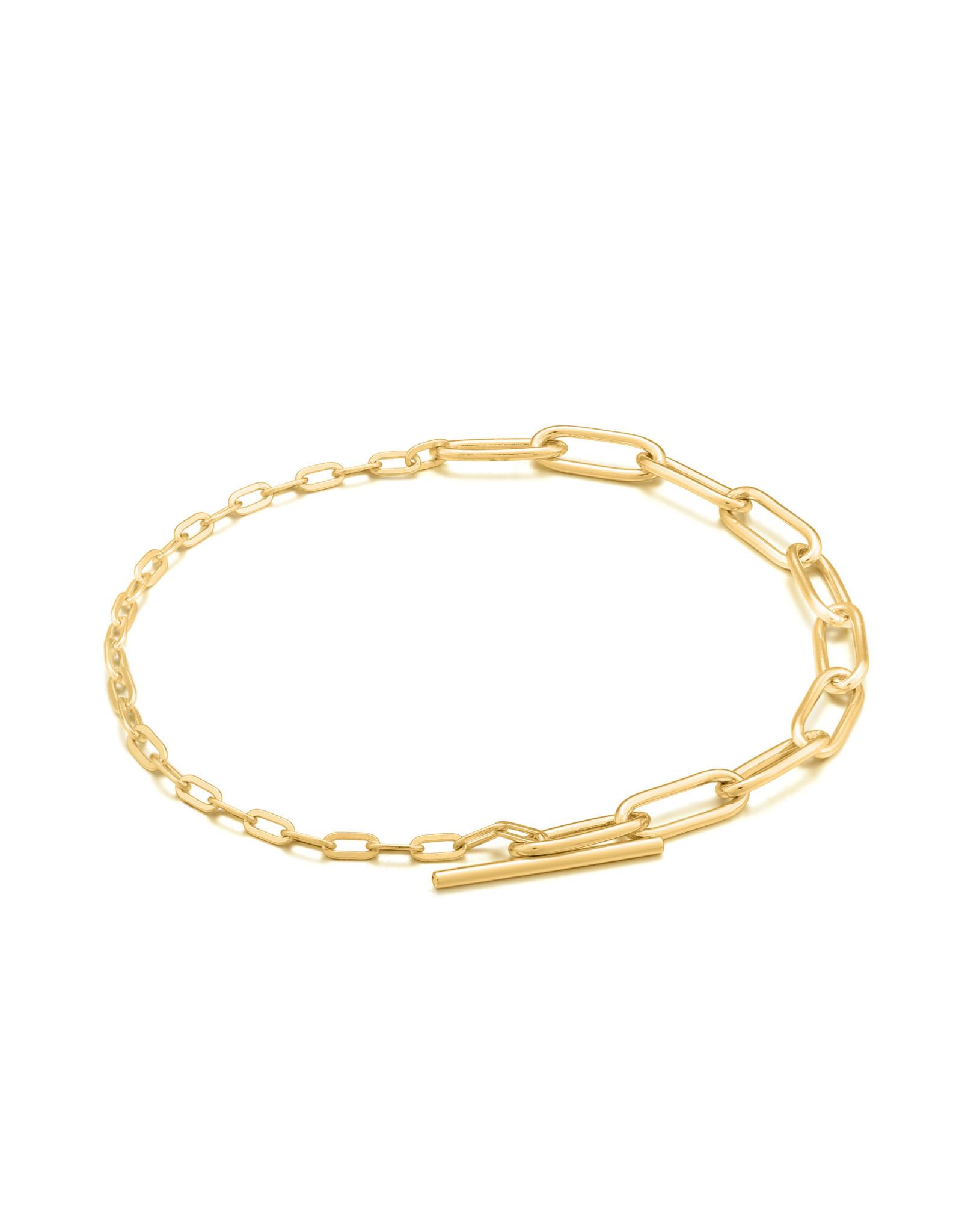 Ania Haie Ania haie - Mixed link T-bar bracelet gold