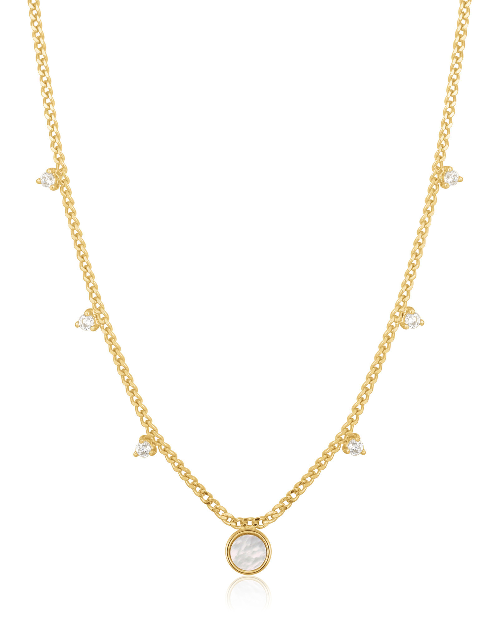 Ania Haie Ania Haie - Mother of pearl drop disc necklace