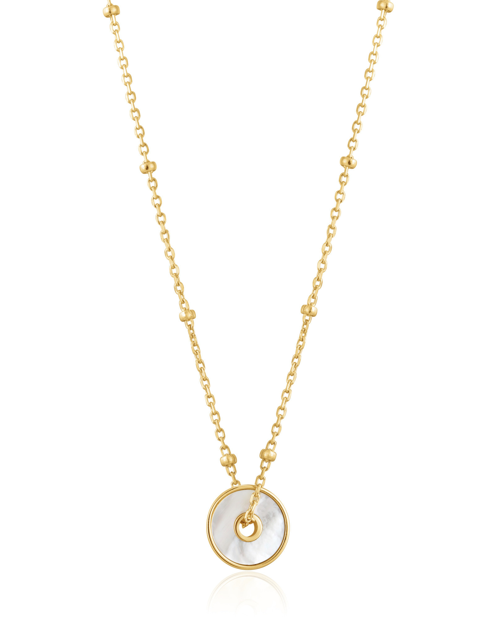 Ania Haie Ania Haie - Mother of pearl disc necklace