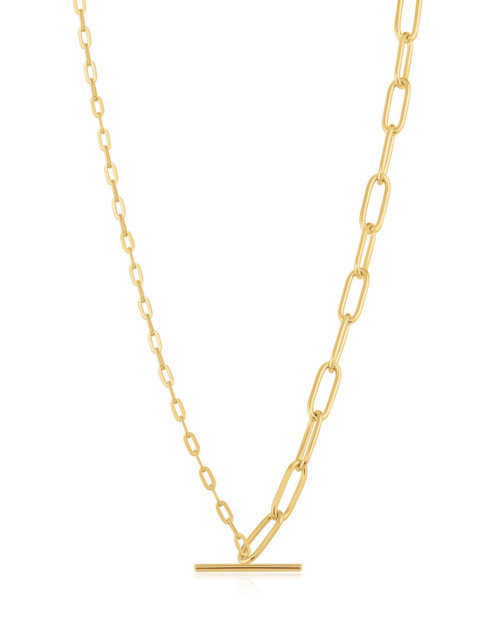 Ania Haie Ania Haie - Mixed link T-bar necklace