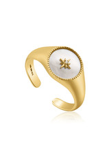 Ania Haie Ania Haie - Mother of pearl emblem signet ring