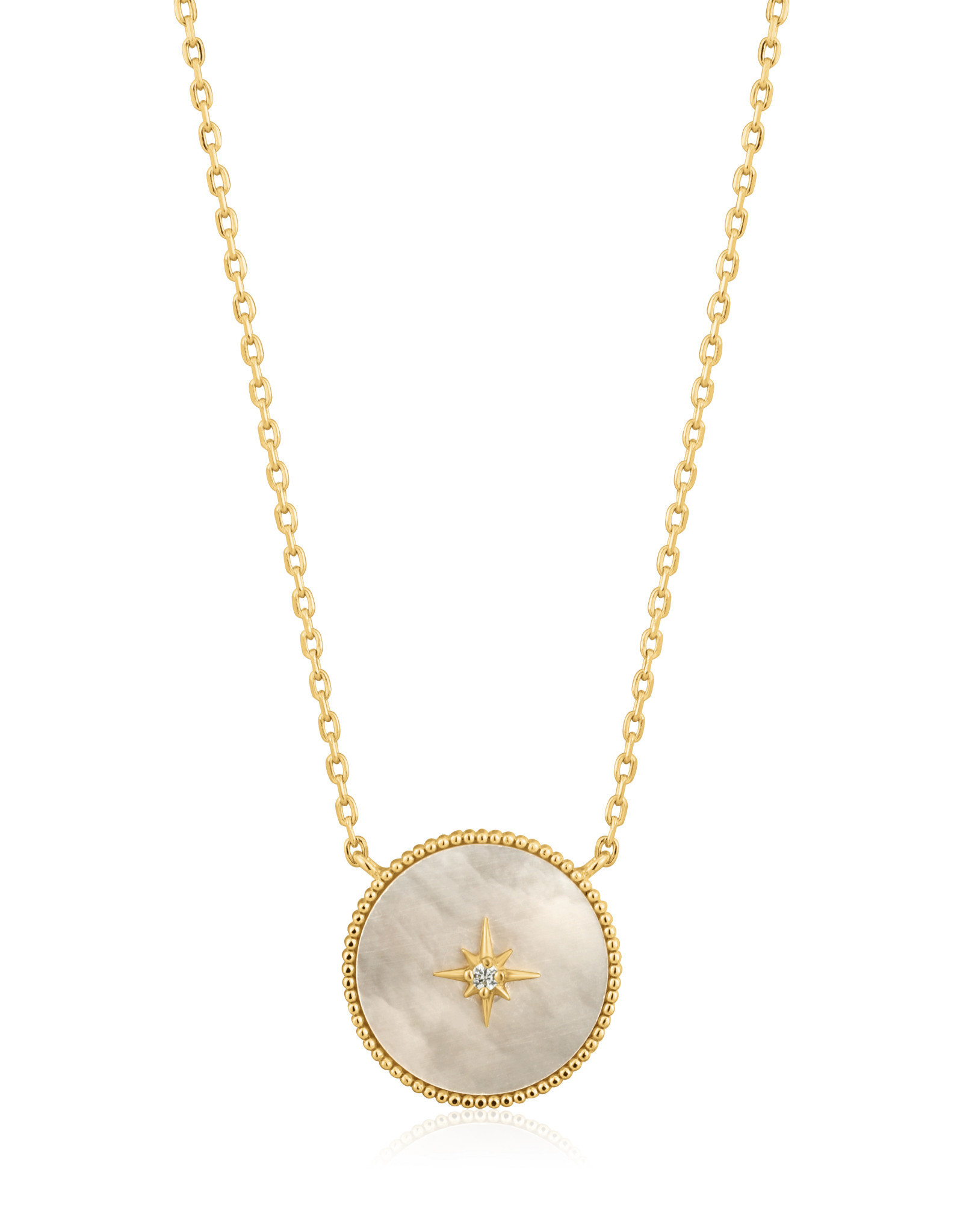 Ania Haie Ania Haie - Mother of pearl emblem necklace