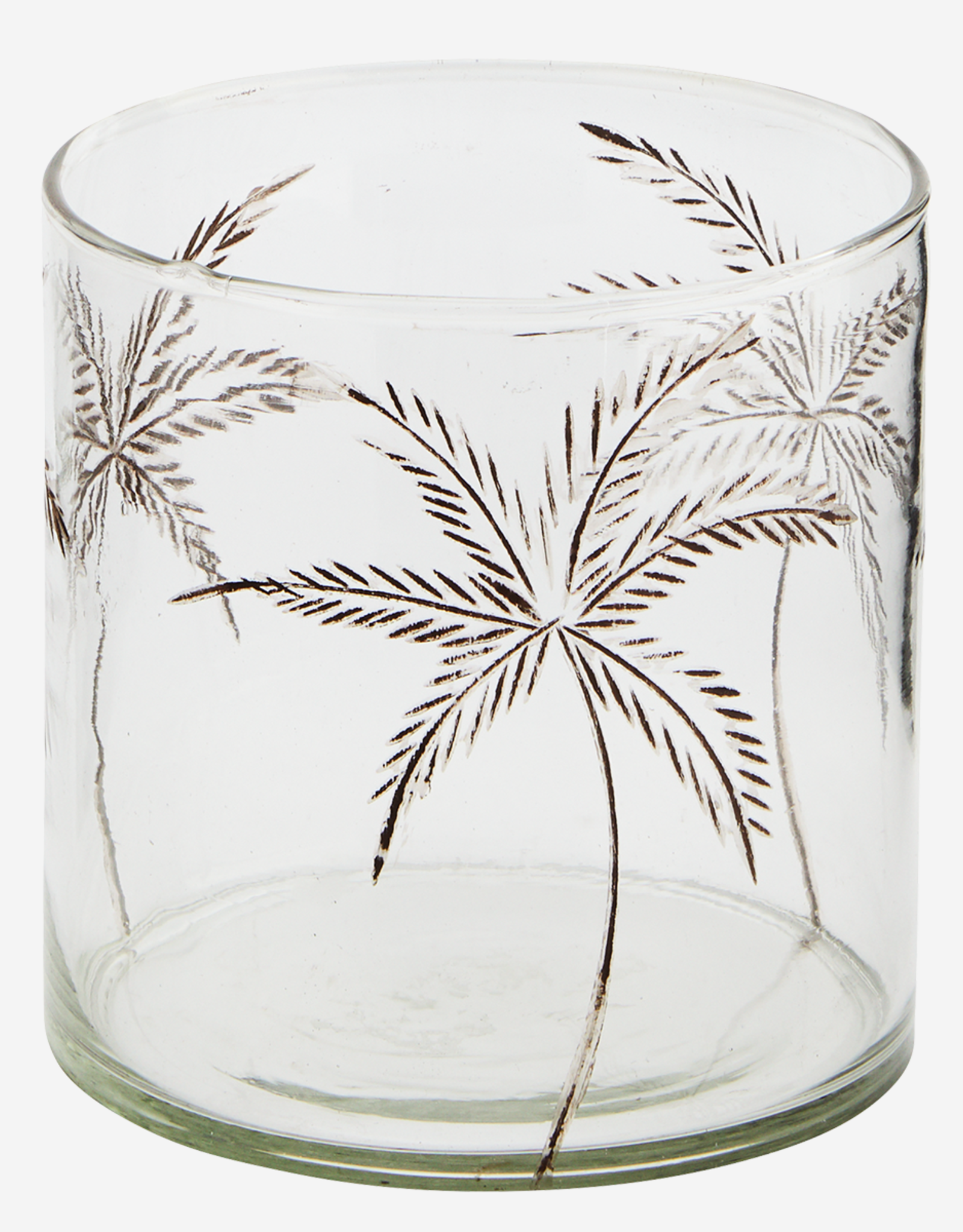 Madam Stoltz Madam Stoltz - Glass votive w/ cutting L