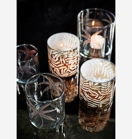 Madam Stoltz Madam Stoltz - Glass votive w/ cutting S