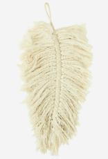 Madam Stoltz Madam Stoltz - Off white, cotton rope leaf L