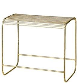 Bloomingville Bloomingville - Wire stool, gold metal