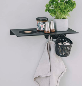 Kreafunk Kreafunk - wiSHELF black - shelf with coat hanger