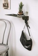Kreafunk Kreafunk - wiSHELF black - shelf with coat hanger