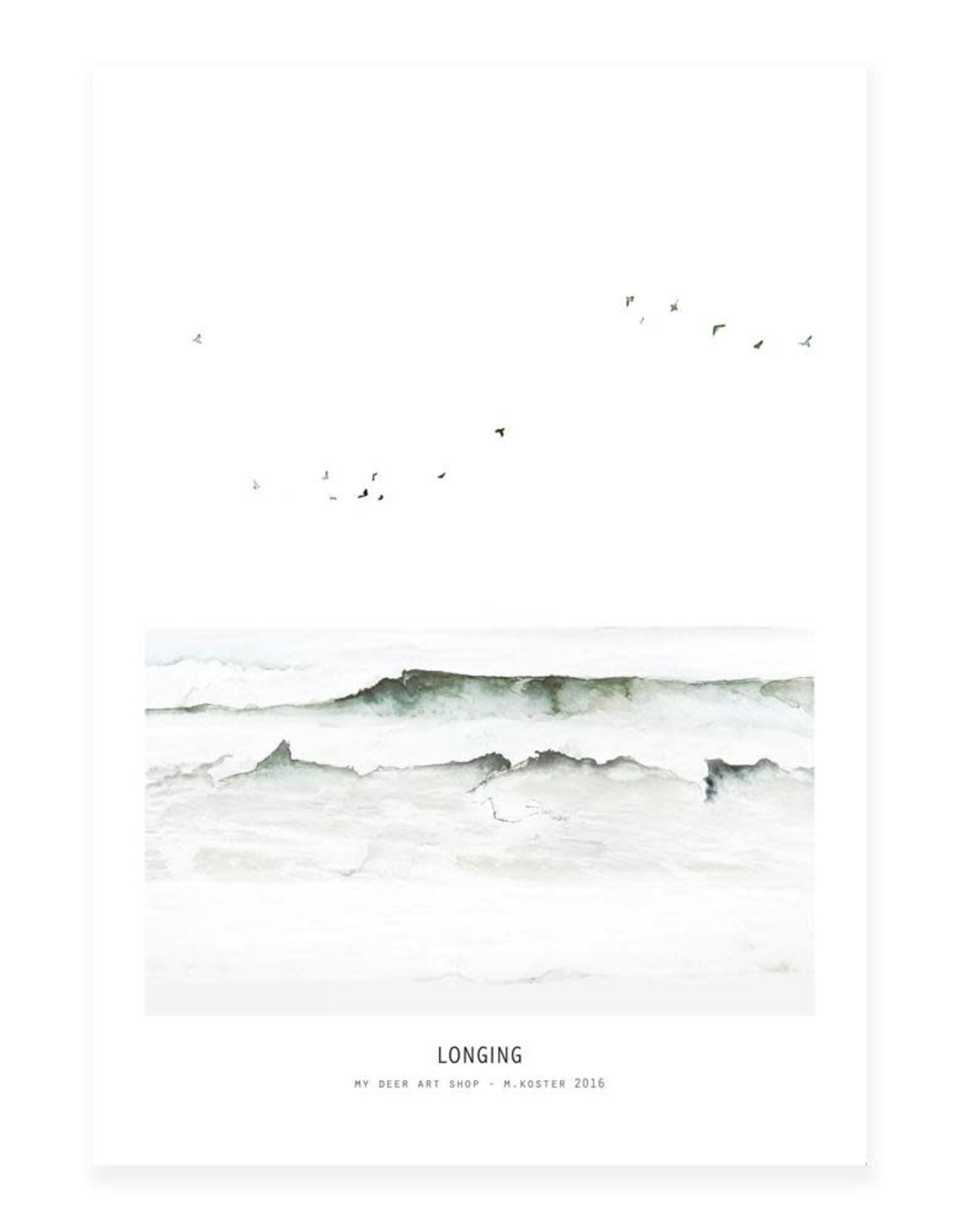 My deer art shop My deer art - mini prints - longing - A5
