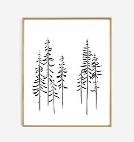My deer art shop My deer art - Line art - pines - 40x50