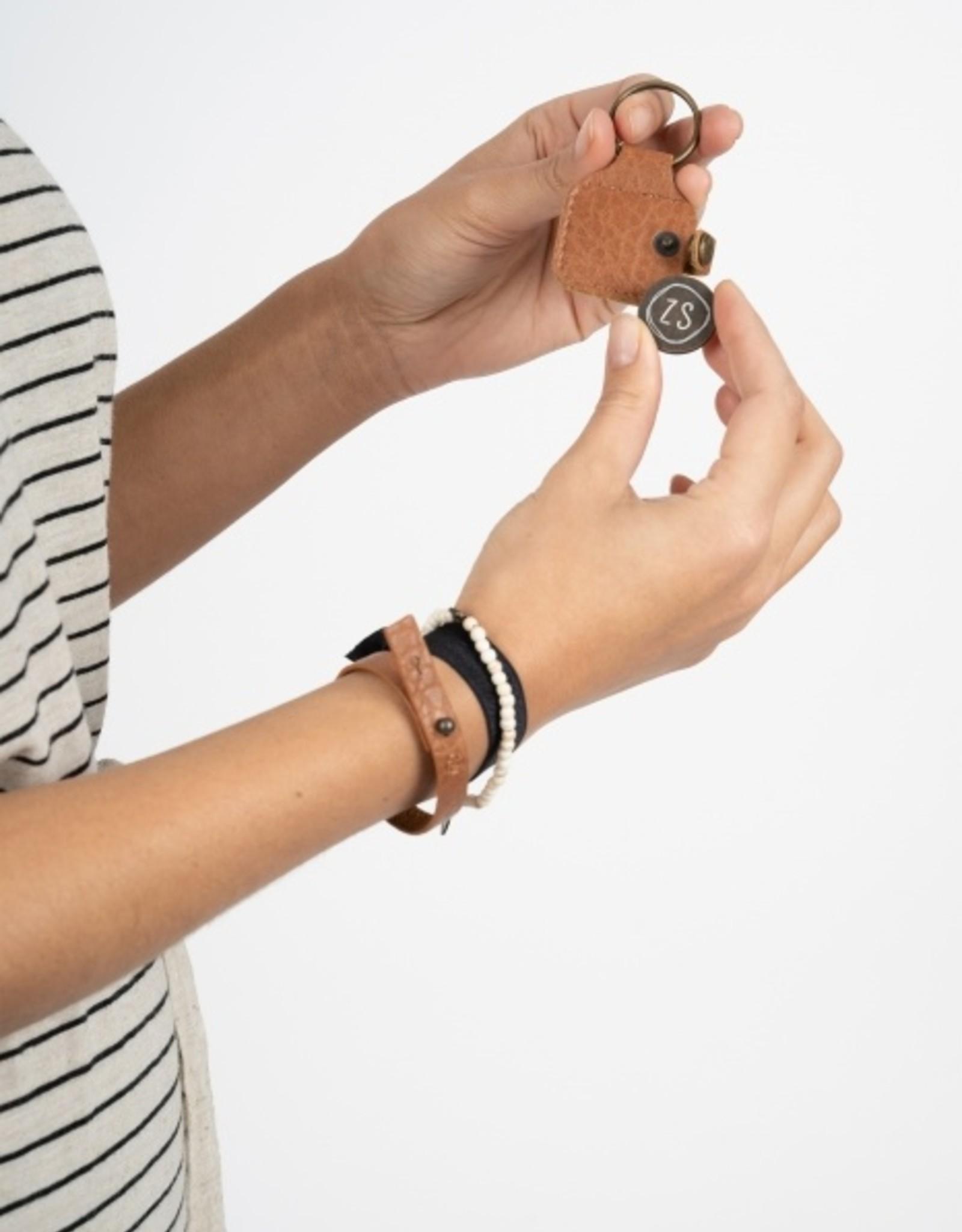 Zusss Zusss - Armband bruin gevlokt