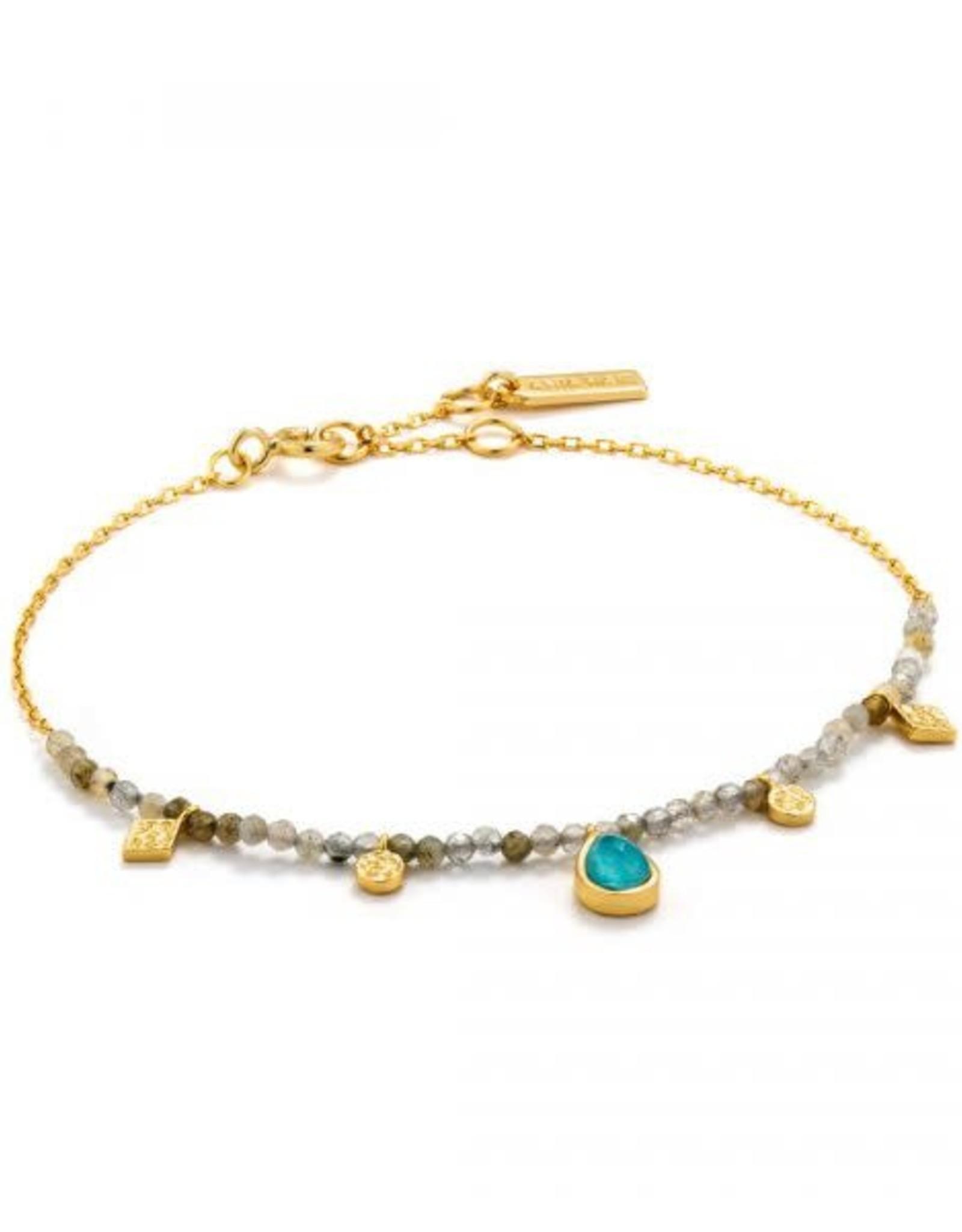 Ania Haie Ania Haie - Turquoise labradorite bracelet gold