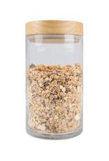Zusss Zusss - Voorraadpot met houten deksel glas L