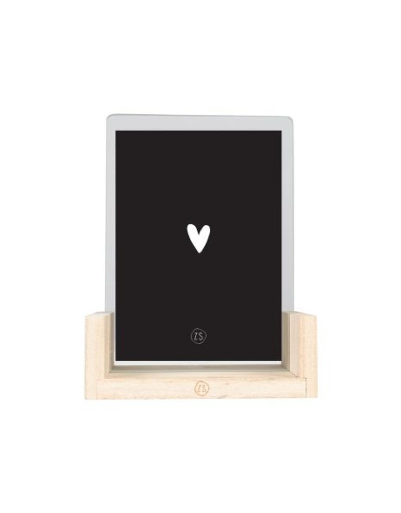 Zusss Zusss - houten fotolijst met poster A6 je t'aime