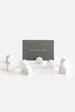 House Racoon House Raccoon - Bobby Card - White Marble