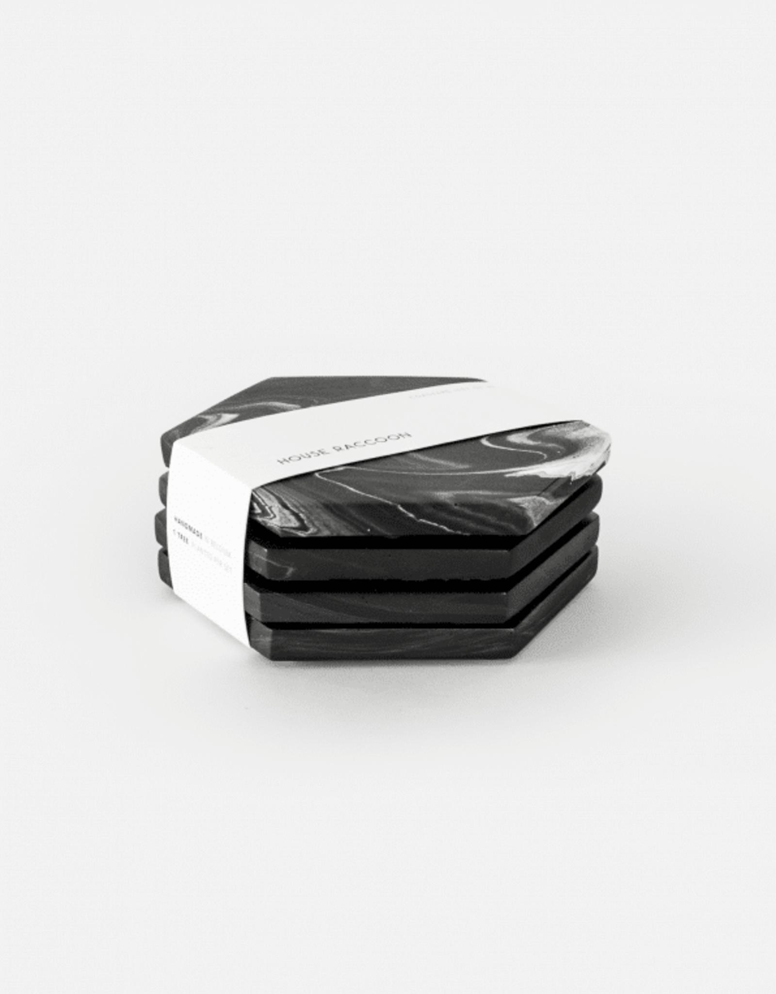 House Raccoon House Raccoon - Dalbane coasters - Black marble