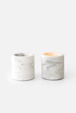 House Raccoon House Raccoon - Morgan Tealight White Marble