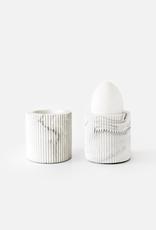 House Racoon House Raccoon - Bradley Egg Cup White Marble