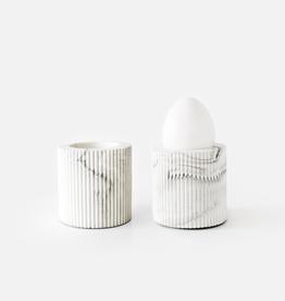House Raccoon House Raccoon - Bradley Egg Cup White Marble