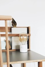 House Raccoon House Raccoon - Walter Table lamp - White marble