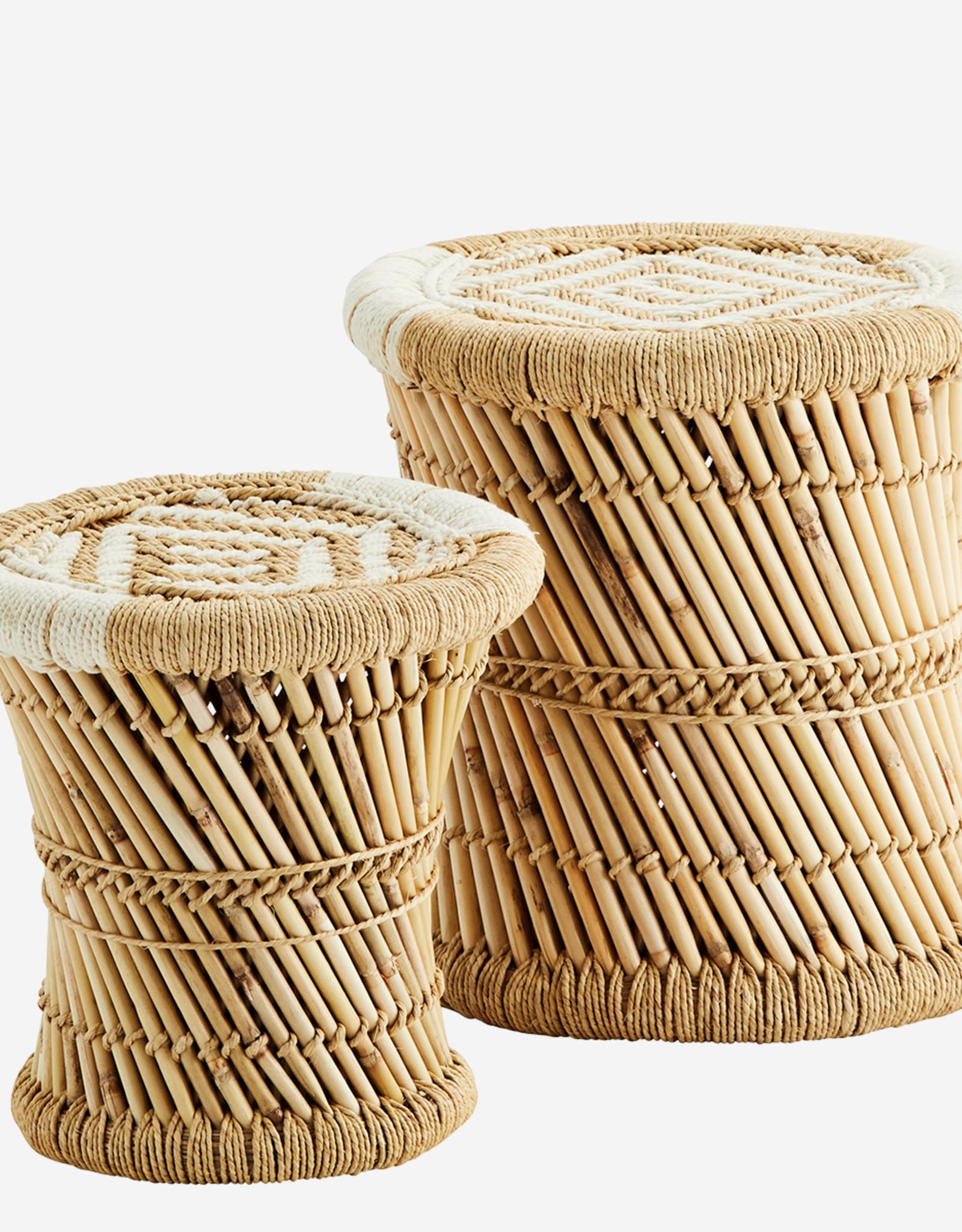 Madam Stoltz Madam Stoltz - bamboo stools SET van 2