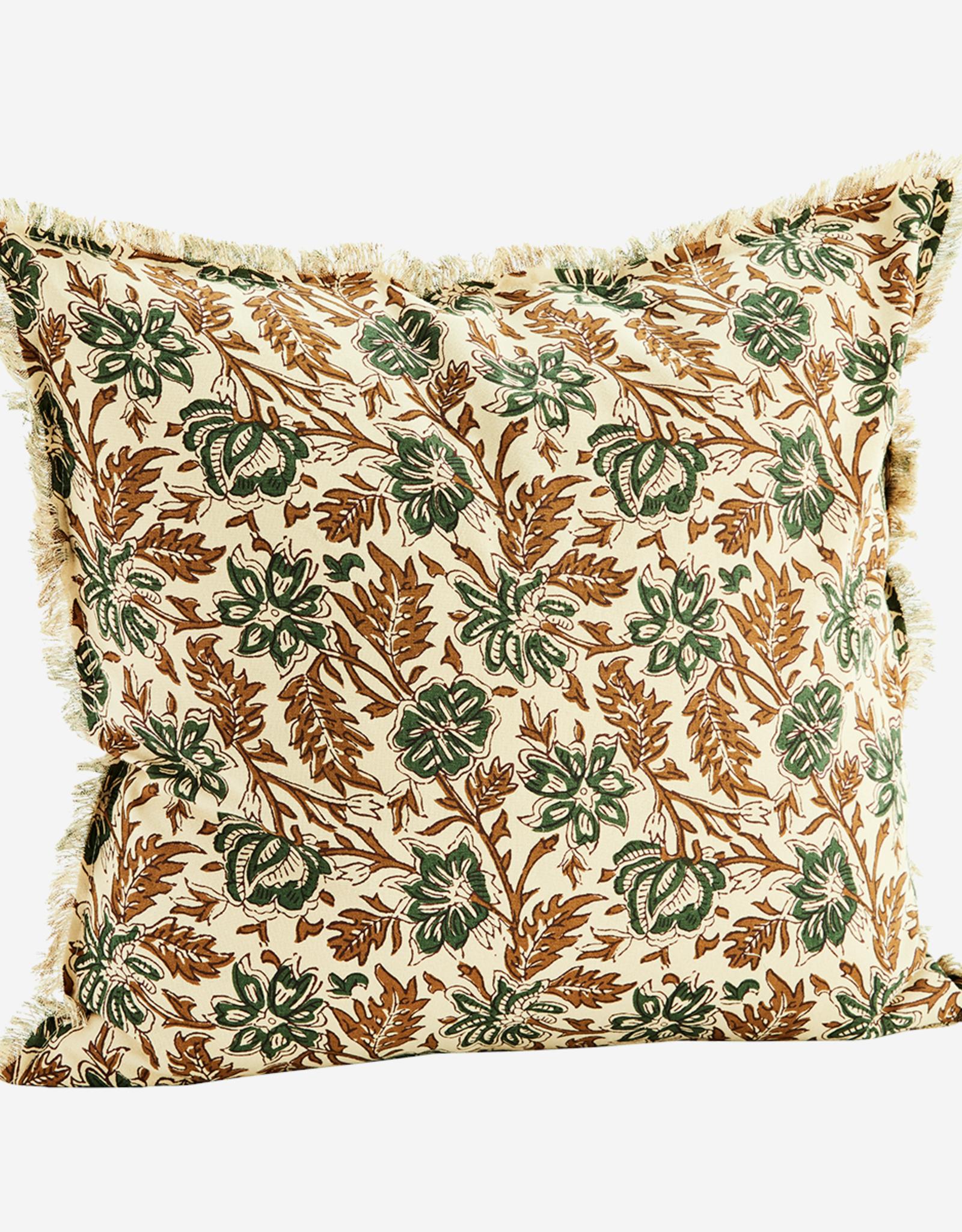 Madam Stoltz Madam stoltz - Cushion printed flowers filling 50x50