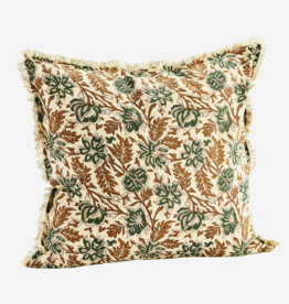 Madam Stoltz Madam stoltz - Cushion printed flowers filling 50x50