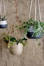 Bloomingville Bloomingville - Flowerpot hanging nature stoneware Dia13xL55xH13