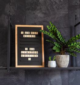 LEDR LEDR - Oldschool letterboard Zwart