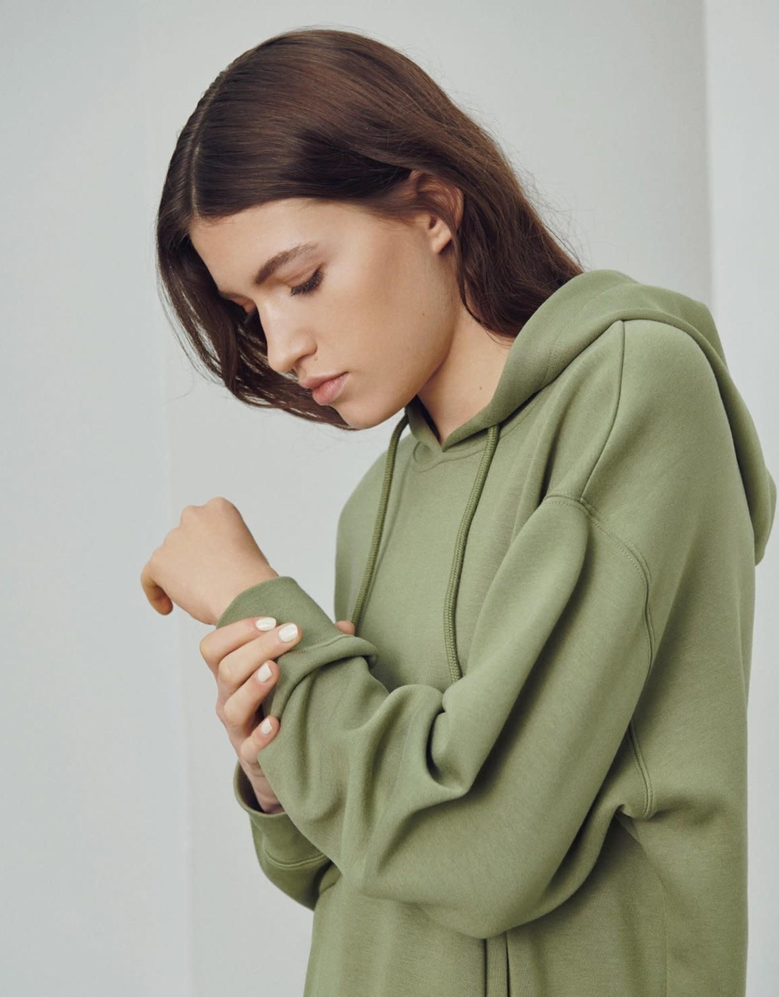 Moss Copenhagen MSCH - Ima Hood Sweatshirt oil green