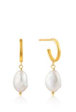 Ania Haie Ania Haie - pearl mini hoop earrings