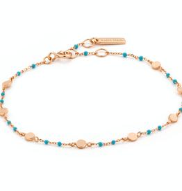 Ania Haie Ania Haie - turquoise chain bracelet gold